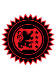 Wappenkundelöwe Lizenzfreies Stockfoto