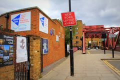 Wapping墙壁视图Shadwell伦敦英国 库存照片