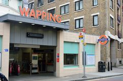 Wapping Tube station Stock Image