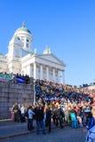 Wappu in Helsinki Finland stock afbeelding