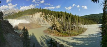 Wapta Falls panorama Royalty Free Stock Images