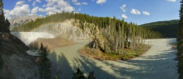 Wapta Falls panorama Stock Image