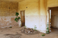 After war. The thrown buildings in the demilitarised zone on the Syrian-Israeli border Royalty Free Stock Photography