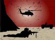 War. Grunge style war vector illustration Royalty Free Stock Photos