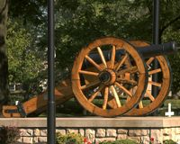 War Of 1812 Cannon. Cannon in a cemetery for war of 1812 Royalty Free Stock Photography