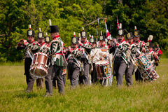 War of 1812 re-enactment band Royalty Free Stock Images