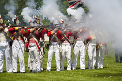 War of 1812 Reenactment Stock Images