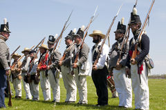 War of 1812 Reenactment Royalty Free Stock Image
