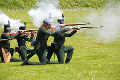 War of 1812 Reenactment Stock Photo