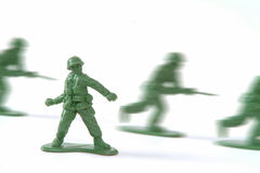 War. Whit military toys stock photography