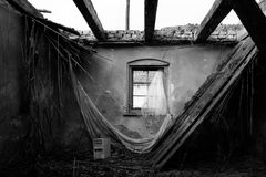 War. Destroyed house in war on Kosovo and Metohia Royalty Free Stock Photography