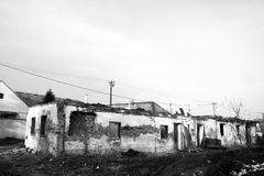 War. Destroyed house in war on Kosovo and Metohia Stock Image