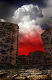 War. Next terrible war in cities Royalty Free Stock Photography
