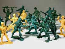 War. A montage of plastic army men Stock Image
