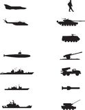 War. A collection of war icons Stock Image