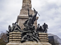 War against Napoleon monument Stock Images