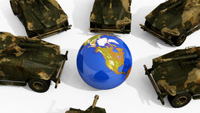 War Against World Concept Royalty Free Stock Images