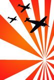 War airplanes stock illustration