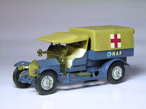 War Ambulance. A small model of a war ambulance used by RAF (Royal Air Force Royalty Free Stock Photography