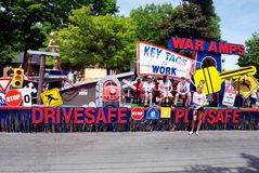War Amps Float. In the 2012 Apple Blossom Parade royalty free stock photo