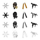 War, army, armament and other web icon in cartoon style.Shooting, port, weapons, icons in set collection. Royalty Free Stock Images