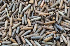 War background of used shells Stock Image