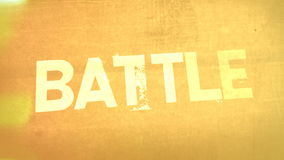 War, Battle, Combat Graphic Title Animation stock video footage