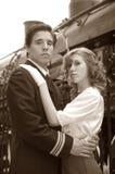 War Bride. World War 2 Canadian soldier embracing his war bride Stock Photography