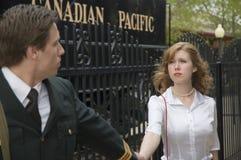 War Bride. World War 2 Canadian soldier going to war Royalty Free Stock Image
