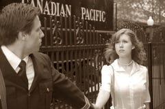 War Bride. World War 2 Canadian soldier going to war Stock Image