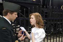 War Bride. World War 2 Canadian soldier proposing to his girl Stock Photo