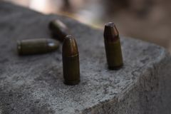 Bullet in the street, fighting. War, bullet in the street, fighting Stock Photography