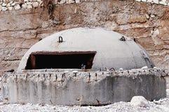 War bunker. Albania, Europe royalty free stock photos