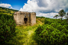 War Bunker Hidden in Bush-Krkonose,Czech Republic Royalty Free Stock Image