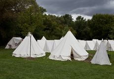 War camp tent Royalty Free Stock Images