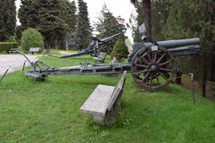 War cannon used in world war Stock Photos