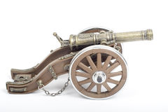 War Canon. Used in battle field. Vintage Piece stock photo