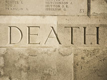 War carved in memorial Stock Photography