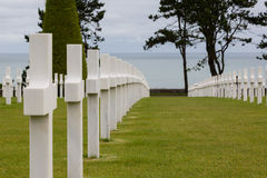 War cementery Normandy Royalty Free Stock Photography