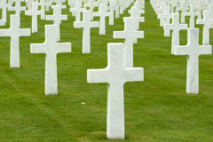 War cemetery. Group of crosses on a military war cemetery Royalty Free Stock Photo