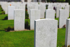 War cemetery Stock Photography