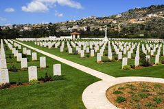 War cemetery. Second World War cemetery in Souda bay, Chania, Crete Stock Photo