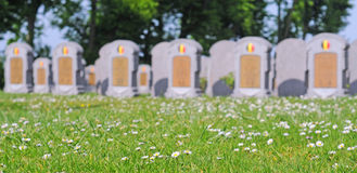 War cemetery, belgium Royalty Free Stock Photo