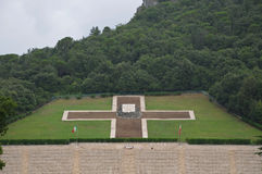 The war cemetery of the city of montecassino Royalty Free Stock Photography