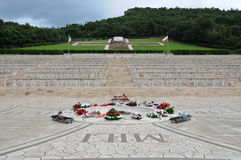 The war cemetery of the city of montecassino Royalty Free Stock Images