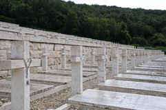 The war cemetery of the city of montecassino Stock Photo