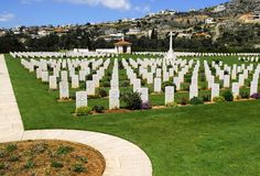 War cemetery in crete Royalty Free Stock Photos
