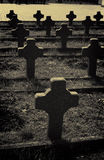 War cemetery crosses Royalty Free Stock Photo