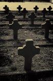 War cemetery crosses Royalty Free Stock Photo