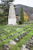 War cemetery. First world war cemetery in Solkan - Slovenia Royalty Free Stock Photos